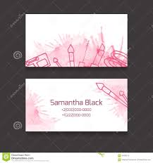 makeup artist business card stock vector image 56482579