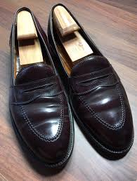 alden new england shell cordovan classic penny loafers 11 a c