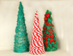 diy cardboard cones christmas tree home decor