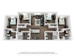 Oklahoma Floor Plans Oklahoma State University Apartments 4 Bed 4 Bath Elm Apartments