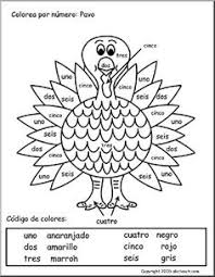 thanksgiving color by numbers in as seen third grad on
