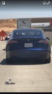 tesla outside a model 3 was seen outside the fremont factory it u0027s the first