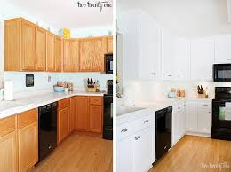 Before And After Kitchen Cabinet Painting Kitchen Cabinets Painted White Before And After 23