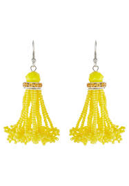 sweet deluxe susanka pendientes silver coloured yellow mujer