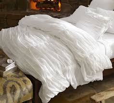 Ruched Bedding The Look For Less Pottery Barn Ruched Duvet Cover The Budget
