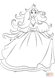gorgeous princess coloring page free printable coloring pages