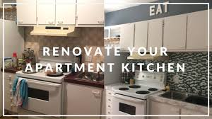 apartment kitchen makeover on a budget diy youtube