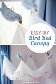 easy diy bird canopy for above a bed make it and love it easy diy bird canopy for above a bed via make