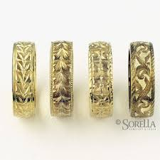 engraved wedding bands crafted engraved wedding bands in 14k gold by sorella