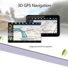 junsun 7 inch gps navigation android radar detector with dvr rear
