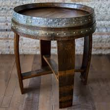 Wine Barrel Bar Table Coffee Tables Used Wine Barrel Furniture How To Attach A Glass