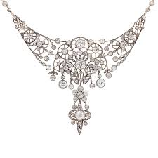 diamond necklace earring set images Victorian 40 carat diamond necklace and earring set c 1880 jpg