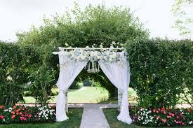 Wedding Arch Garden Dreamy Wedding Arch With Blue And White Flowers