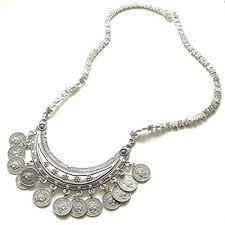 silver tassel long necklace images Buy sansar india silver oxidized coins tassel pendant long jpg