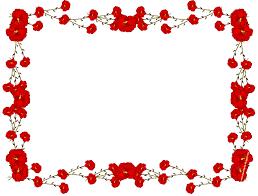 rose flower border clip art 33