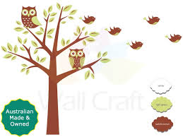 wall craft owl tree fabric wall stickers craft room