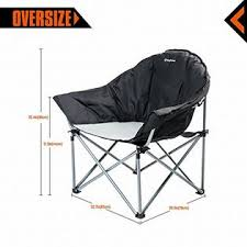 kingcamp oversize padded reclining folding deluxe portable stable
