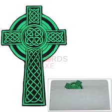celtic crucifix gaelic embroidered patch celtic crucifix iron on sew on w