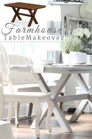 walmart better homes and gardens farmhouse table painted farmhouse table x base refresh restyle