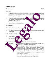 free commercial lease agreement template insurance analyst cover