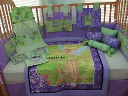 Purple Nursery Bedding Sets by Tinkerbell Fairy Pixie Hollow Green Purple 12 Piece Baby