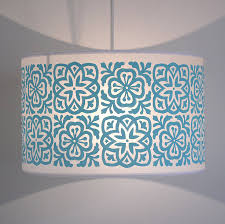 moroccan tile large drum lampshade by helen rawlinson
