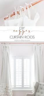 Copper Curtain Rods Diy Copper Curtain Rods Maison De Pax