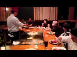 Japanese Chef Makes Fire On Table Youtube