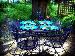 How To Paint Metal Patio Furniture Reader Re Do A Colorful Patio Furniture Makeover Summer Patios