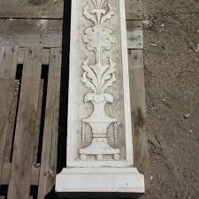 antique continental renaissance revival painted stone fireplace