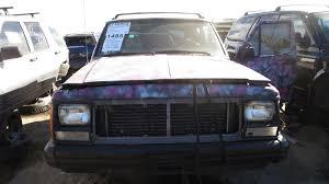 hunting jeep cherokee junkyard find 1993 jeep cherokee pink camouflage edition