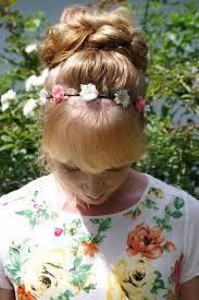 flower hair bun braids hairstyles for hair flower headband with big