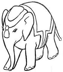 Imprime le dessin à colorier déléphant