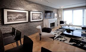 Stone Wall Living Room Interior Stone Wall Living Room Pictures Rbservis Com