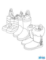 christmas shoe coloring pages hellokids com