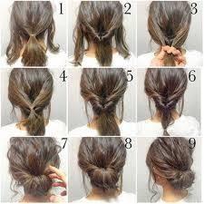 Hochsteckfrisurenen Mittellange Haare Zum Selber Machen by The 25 Best Hochsteckfrisuren Kurze Haare Ideas On