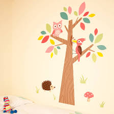forest friends wall stickers by owl
