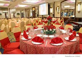 picture of table setting in wedding banquet