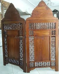 furniture vivacious moroccan room divider with wooden pattern