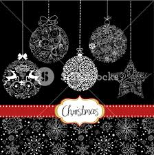 black and white ornaments card template royalty free