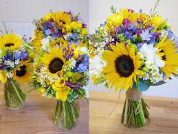 sunflower wedding bouquet poynter flowers wedding flowers dorset kate and tim s