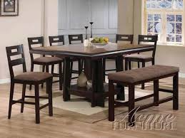 counter height table sets with 8 chairs furniture acme 14310 counter height table
