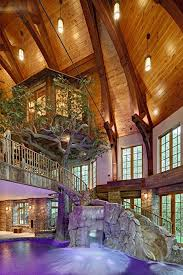 Tree House Backyard by Lakefront Dream Home Lists With Indoor Tree House Photos Cool