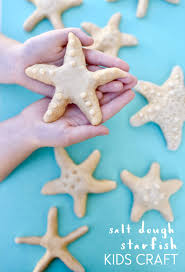 salt dough starfish kids craft the crafting