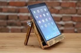 shabi shic wooden ipad stand wood tablet station ipad holder