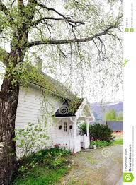 House With Front Porch Small White House With Front Wood Porch Stock Photo Image 44821964