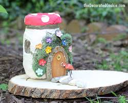 Garden Craft - use air dry clay and mason jars to make a light up fairy garden