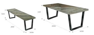 dining room table measurements coffee tables standard size dining room table and average coffee