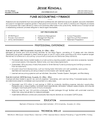 Accountant Resume Sample by Sample Resume In Accounting Field Augustais