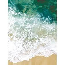 sea tide print skidproof flannel water absorb bath rug green